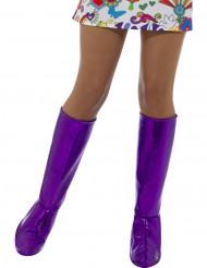 Couvre-bottes violettes femme