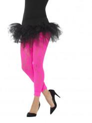 Legging en dentelle rose fluo femme
