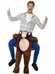 Déguisement homme à dos de singe marron adulte