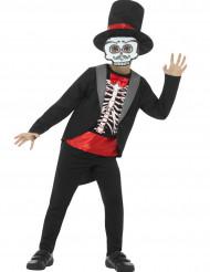 Déguisement gentleman squelette garçon Halloween