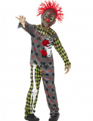 Déguisement squelette clown fou enfant Halloween