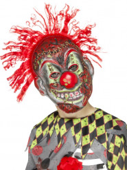Masque squelette clown fou enfant Halloween