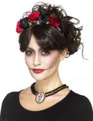 Ras de cou gothique femme Dia de los muertos