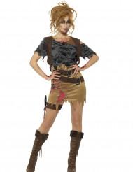 Déguisement chasseuse zombie femme Halloween