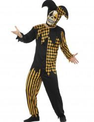 Déguisement fou du roi diabolique noir et or homme Halloween