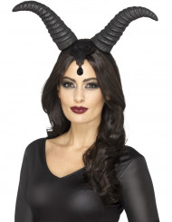 Cornes reine démoniaque femme Halloween