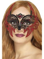 Loup bal masqué métal chauve-souris femme Halloween
