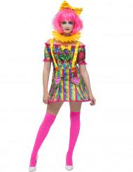 Déguisement clown patchwork femme