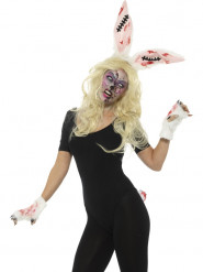 Kit lapin zombie femme Halloween