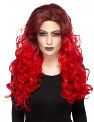 Perruque glamour rouge résistante à la chaleur femme