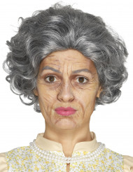 Kit maquillage grand-mère avec latex adulte