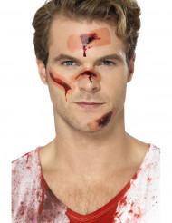 Tatouages temporaires cicatrices avec pansement adulte Halloween