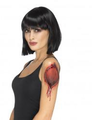 Tatouage temporaire fermeture éclaire femme Halloween