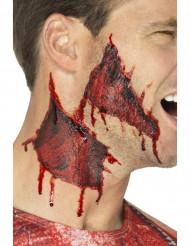 Tatouages temporaires peau arrachée adulte Halloween