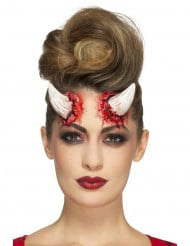 Prothèse latex cornes du diable adulte Halloween