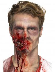 Prothèse latex bouche de zombie adulte Halloween