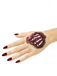 Prothèse latex os de la main adulte Halloween