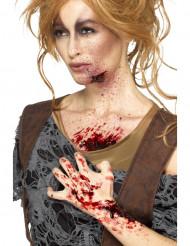 Croûte de sang rouge femme Halloween