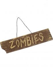 Panneau à suspendre Zombies Halloween 40 x 10 cm