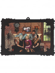 Décoration portrait de famille holographique 44 x 30 cm Halloween
