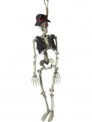 Décoration à suspendre animée marié squelette 90 cm Halloween