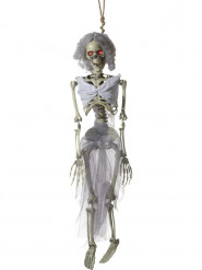 Décoration à suspendre animée mariée squelette 90 cm Halloween