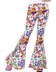 Pantalon hippie années 60 femme