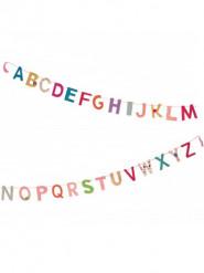 Mini guirlande alphabet en lokta 1m