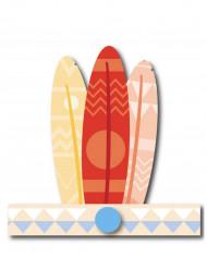 6 Coiffes indien pastels