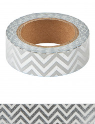 Washi tape chevrons argent 10 m