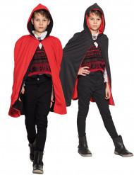 Cape réversible rouge et noire enfant Halloween