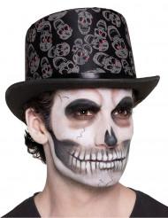 Chapeau tête de mort adulte Dia de los muertos