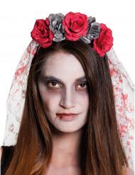 Coiffe mariée femme Dia de los muertos