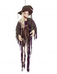 Décoration sorcière animée et sonore 170 cm Halloween
