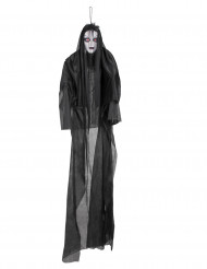 Décoration lumineuse et sonore dame noire 150 cm Halloween