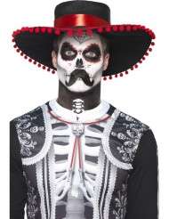 Kit maquillage sequelette mexicain adulte Dia de los muertos