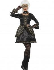 Déguisement baroque noir et or femme