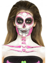 Maquillage latex squelette phosphorescent femme Halloween