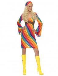 Déguisement hippie arc-en-ciel femme