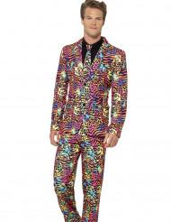 Costume Mr. Léopard multicolore homme
