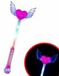 Baguette magique lumineuse cœur avec ailes