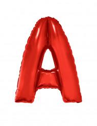 Ballon aluminium géant lettre A rouge 102 cm