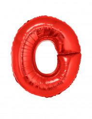 Ballon aluminium géant lettre O rouge 102 cm