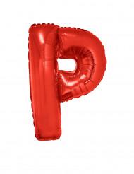 Ballon aluminium géant lettre P rouge 102 cm