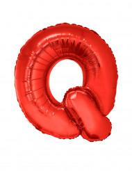 Ballon aluminium géant lettre Q rouge 102 cm