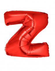 Ballon aluminium géant lettre Z rouge 102 cm