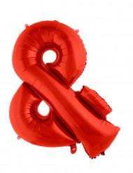 Ballon aluminium géant symbole & rouge 80 cm