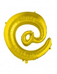 Ballon aluminium géant symbole @ doré 70 cm