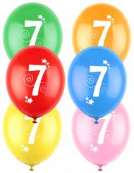 12 Ballons différentes couleurs chiffre âge 7