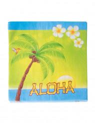 20 Serviettes en papier Aloha 33 x 33 cm